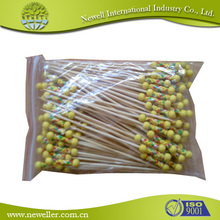 Best sell artificial bead food picks 90mm for cakes