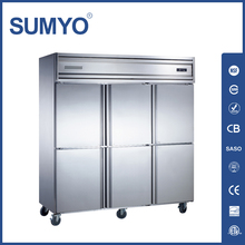 6 Doors Upright Restaurant Commercial Kitchen Fridge