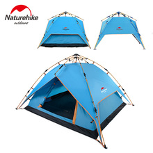 Naturehike aluminum pole hydraulic automatic folding double weatherproof aluminum pole 3-4 persons camping tent family