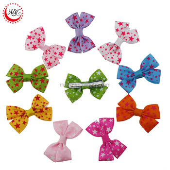 2016 Hot-sales New design south korea style little star hair clip lovely bowknot