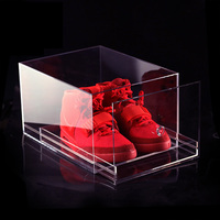 2015 hot-sale clear acrylic packing display cases for shoes