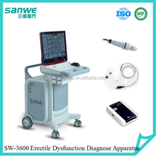 Doppler principle penis vascular dysfunction diagnostic treatment machine