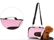 Three size sturdy pink pet carrier foldable design