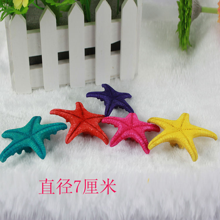 coloured resin hexagon starfish decorative cheap wholesale artificial starfish decorations