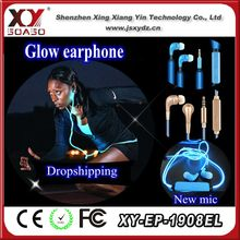 Running bright cool EL earphone accept factory product drop shipping service