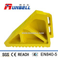 Durable Yellow Rubber Truck Tire Stopper Chock 270 x 120 x 180mm