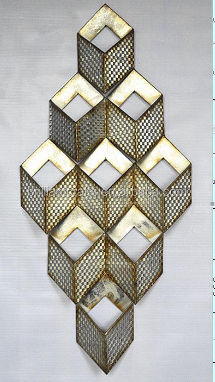Antique Geometrical Halway Decors Crystal Light Wall Craft