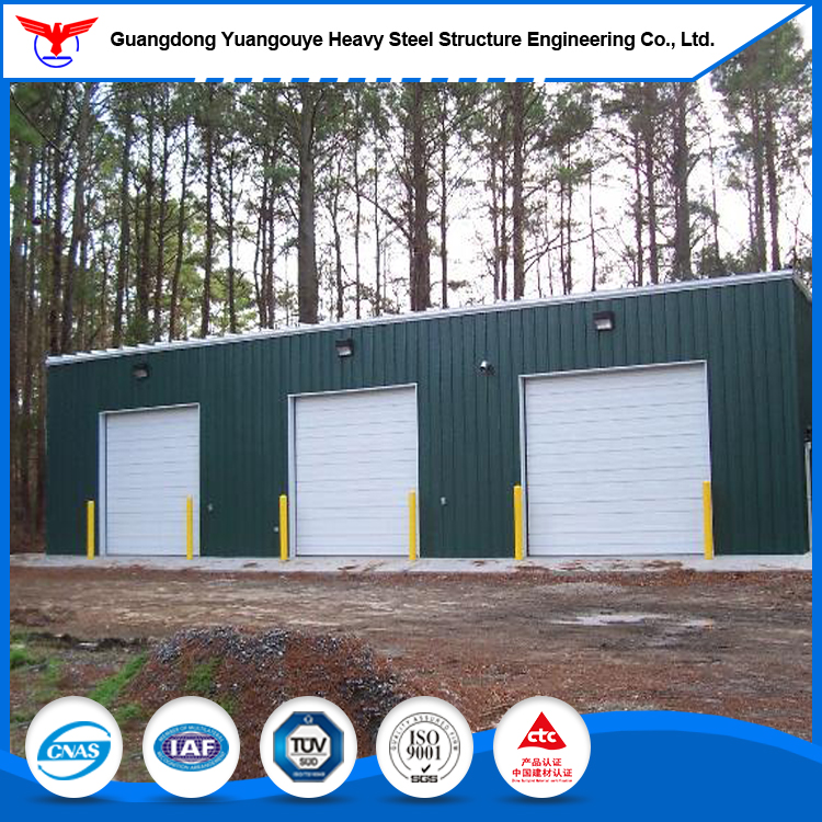 Prefabricated light steel two storey steel structures warehouse/workshop/Hangar/car showroom in Africa