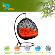 English Letters Indoor Outdoor Hanging Swing Egg Chair Garden Iron Single Seat Swing Chair