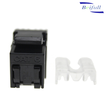 180 degree Ethernet Network rj45 utp cat5e cat6 keystone jack with dust cover