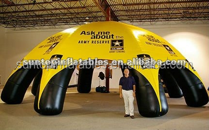 inflatable spider sealed tent with 0.6mm pvc material