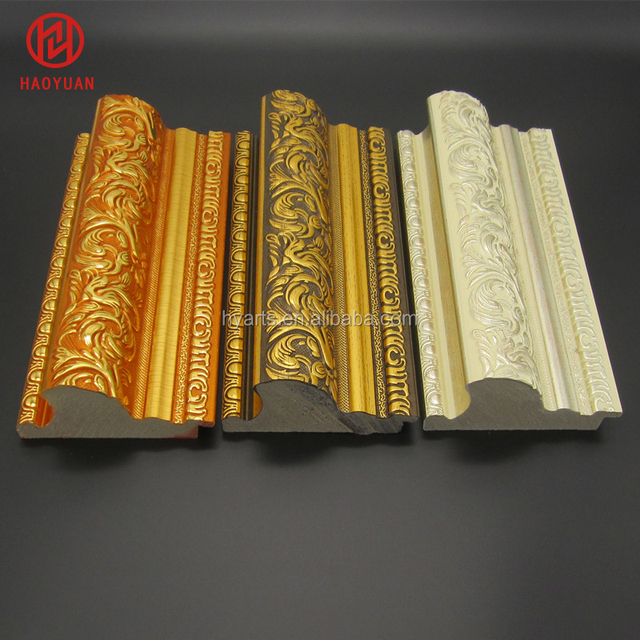 Versatile Extra Wide Recycled Plastic Ornate Decorative Wall Art PS Frame Mouldings for Pictures , Photos , Mirrors