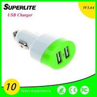 Mini Bullet Dual USB phone wall charger for Apple and Android Devices
