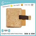 Minimalist Wallet For Men Slim Bifold With Money Clip Vegan Cork Wallet