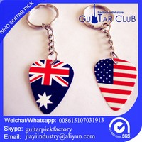 two function 8 string electric guitar pick, custom as name card key ring