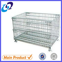 Heavy duty stackable steel wire cage