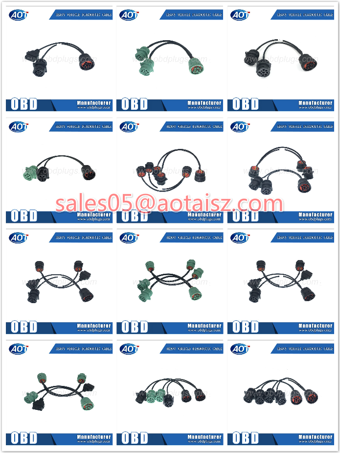 Green Connector Type Deutsch 9PIN J1939 Male to HDB15 DB15 PIN Male Splitter Cable