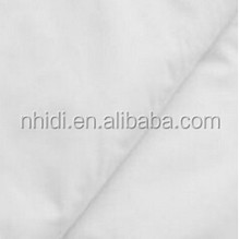 Poplin polyester cotton mixed woven raw white fabric