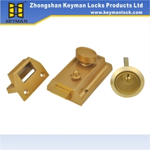Rim Lock South American,Night Latch For Home In Gold Finish