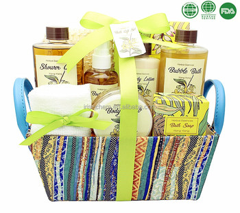 OEM ODM beauty care body washing full set bath soap body lotion spa gift set