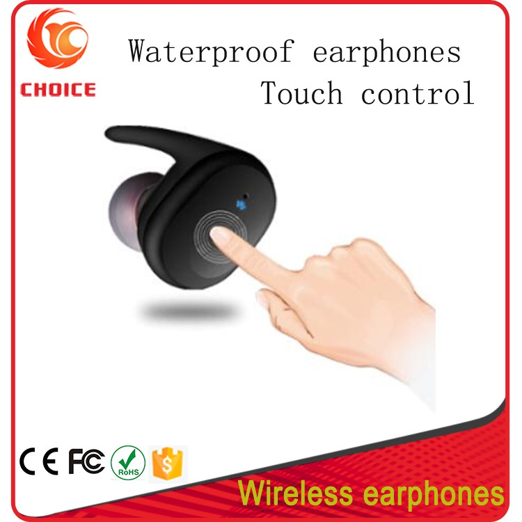 Independent Dual Channel Mini Truly Wireless TWS BT Magnetic Waterproof Earbuds For Sport With Touch Control