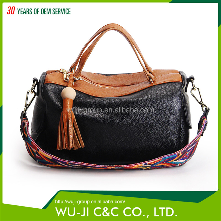 Different Color Full Grain Lady Full Leather Bag Camel Leather Bag