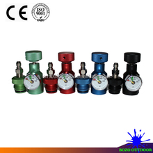 CO2 Universal fill adapter with 1500psi gauge Remote On/Off ASA with male quick Disconnect paintball airsoft New