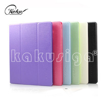 Kaku professional flip leather pvc fold case for ipad air 5 smart cover
