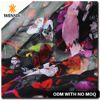 silk chiffon fabric prices Custom print Silk Fabrics Types