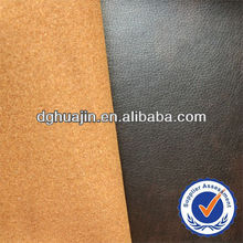 genuine leather powder bonded pu fake leather for sofa