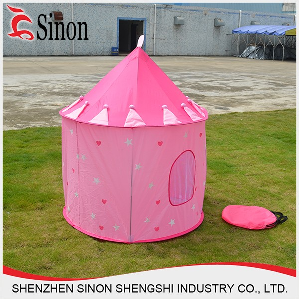 Newly high quality polyester made princess shape outdoor camping tent