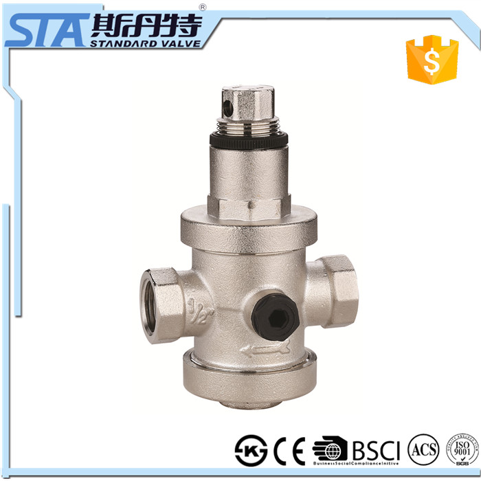 ART.5065 China industry low price customized forged npt nickel brass male threaded pressure relief valve for solar water heaters