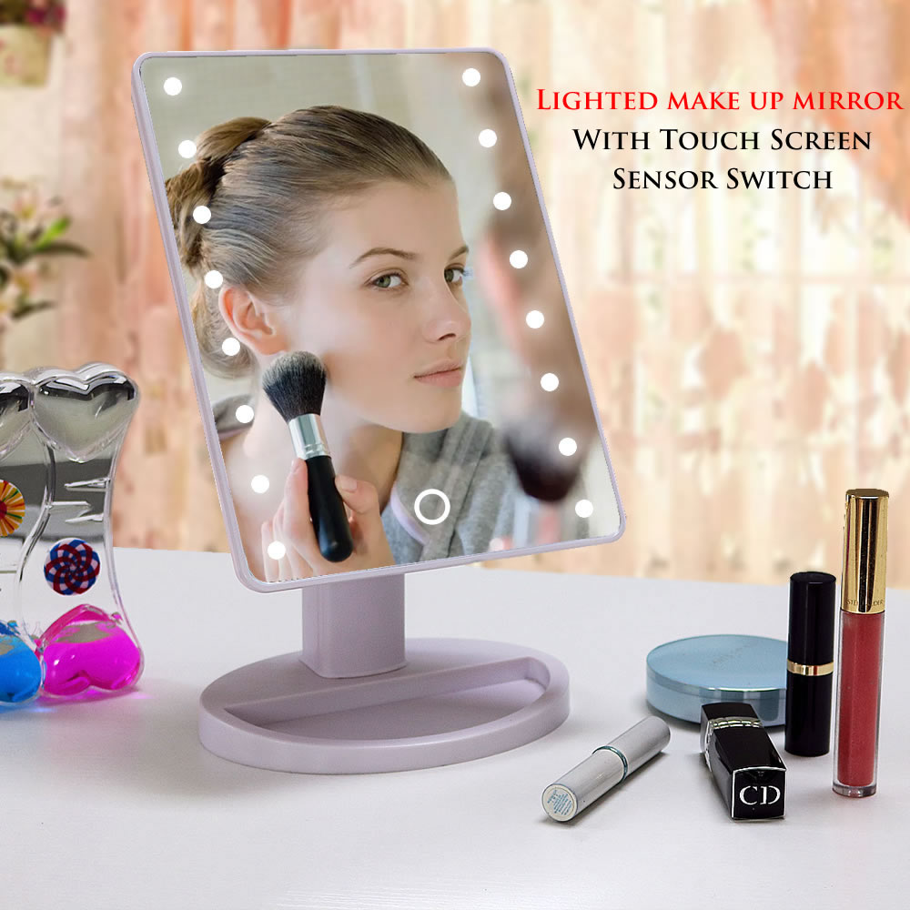China supplier 2017 best selling product ABS vanity makeup mirror with led light