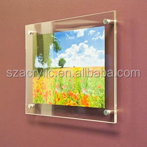 elegant acrylic picture frames wall mount factory whole sale
