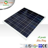 Sunshine 50w Poly High Efficiency A Grade Solar Panel Solar Module for 12V Solar Power System/Street Light/Battery Charging