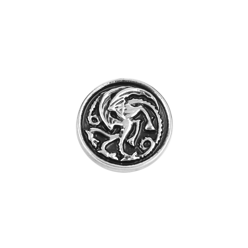 Hot Movie Series Game Of Thrones Song of Ice And Fire Silver Dragon Brooch Vintage Jewelry Accessories