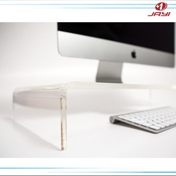 Plastic keyboard riser clear acrylic computer monitor stand