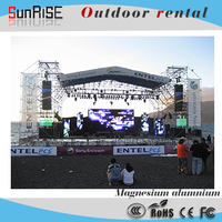 NEW! solar powered electronic billboard for outdoor rental advertising led display