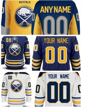 2016 Cheap Buffalo Sabres #15 Jack Eichel Hockey Jersey Home Navy Blue White Yellow Authentic #9 Evander Kane Stitched Jerseys