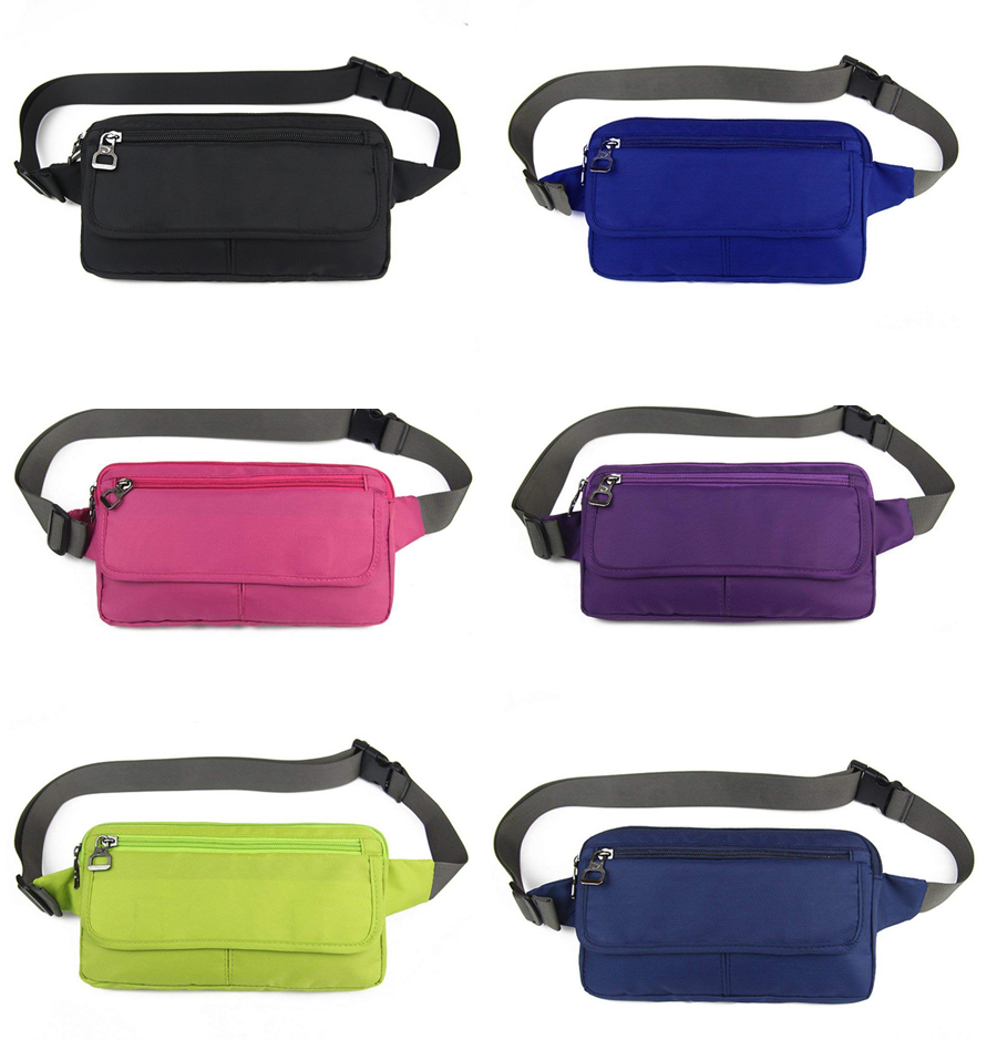 Ultraslim Nylon Water Resistant Stealth Small Running Travel Waist Bag