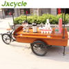 wood food service cart for wholesale hot dog