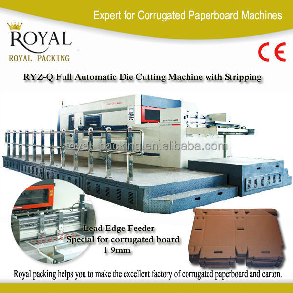 1500 Automatic cardboard die cutting machine with stripping