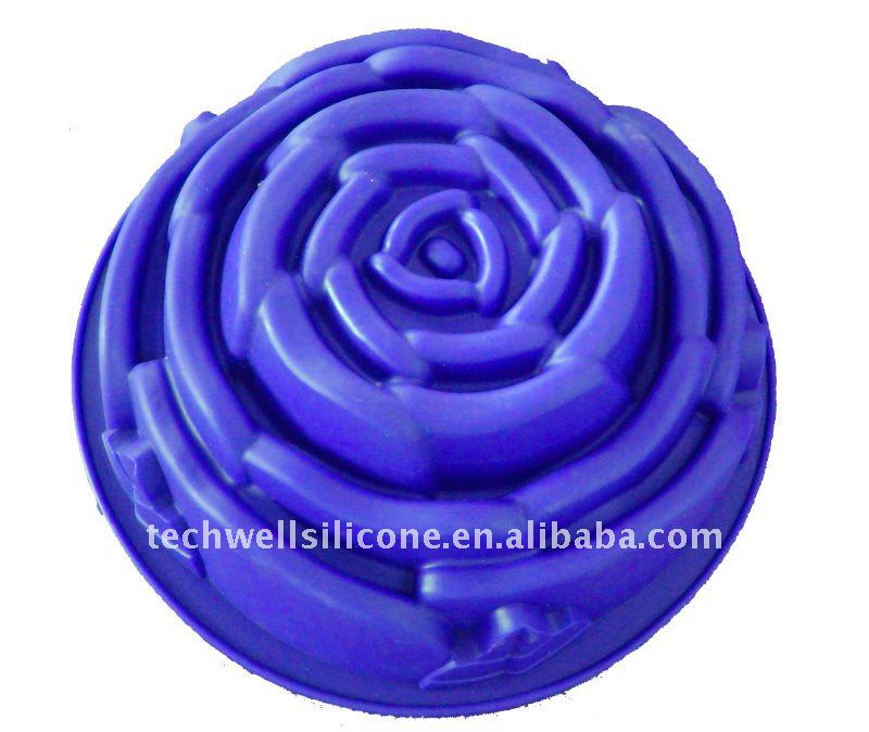 CM-059 silicone flower shape big cake mould