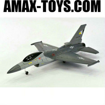 ep-248828b f 16 rc plane grey airplane with 70mm ducted fan Jet