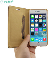 Promotional Customized Retro folio ultra thin book style leather case for mobile phone