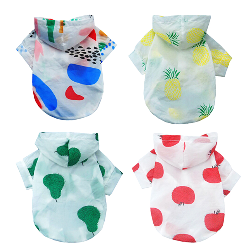 Lovely Pet Breathable Fruit Sunscreen Fabric Dog Clothes