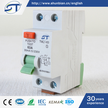 SHUNTE Yueqing Hot Sale RCCB Automatic Low Voltage 10KA Micro Electronic Circuit Breakers Types