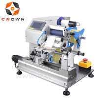 Automatic wire cable tube adhesive labeling machine