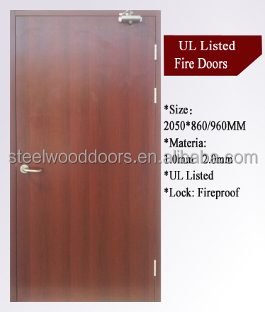 Apartment China Metal Entry Steel Fireproof Fire Rated Door