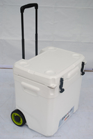 65L large trolley ice cooler box